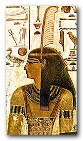 Maat, Egyptian Goddess of Truth and Justice Upper fragment from the Tomb of Seti I c 1306-1290 BC