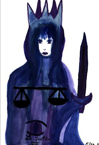 La Jutica - Justice Tarot Card