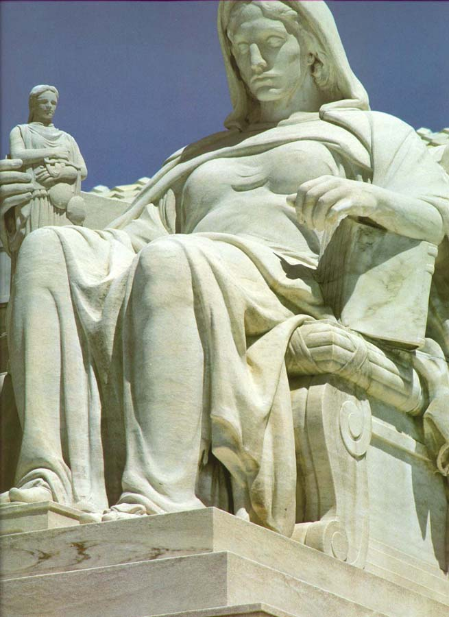 The Contemplation of Justice, US Supreme Court Building - James Earl Fraser