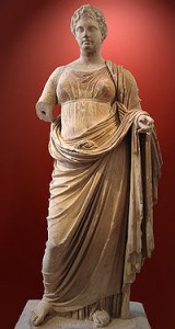 Themis from the temple of Nemesis Rhamnous Attica signed by sculptor Chariestratos, c 300 BCE
